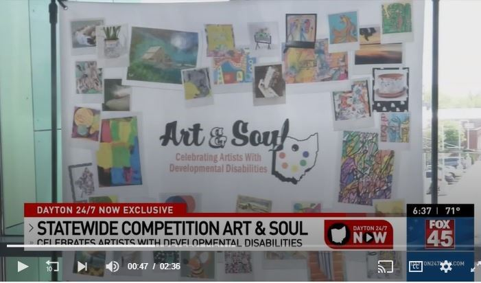 Art and Soul statewide art exhibit 2021 - screenshot of WRGT-TV story Opens in new window